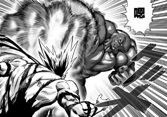 一拳超人:村田重画了172话细节,饿狼硬抗黑光超合金双拳火箭炮_实力