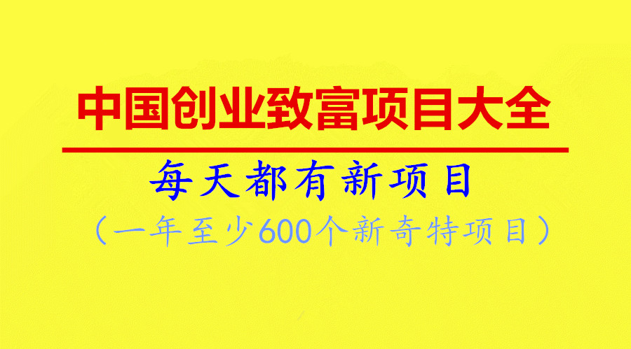 致富项目大全:《中国创业致富项目大全》1-12期总目