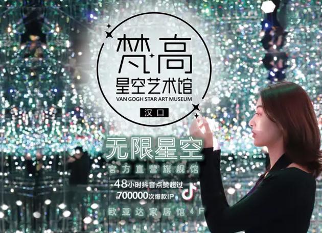 2020武汉梵高星空艺术馆,火遍全网的打卡圣地