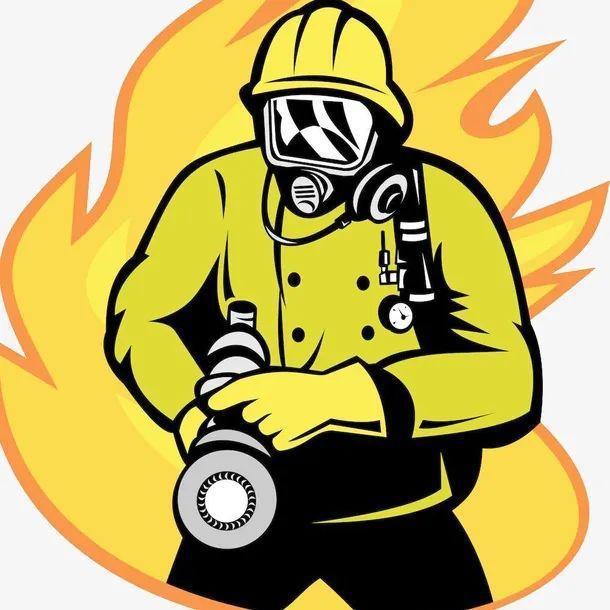消防员简笔画素材