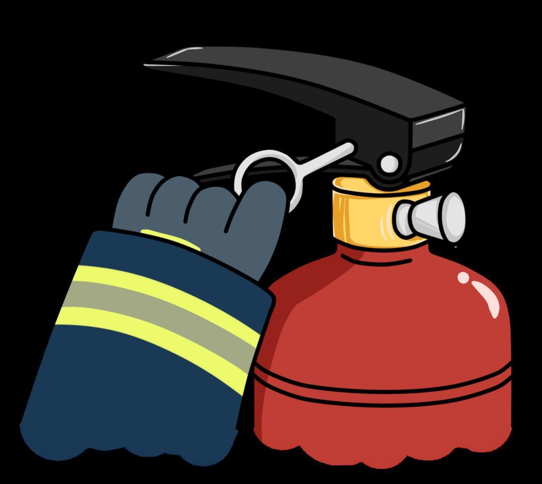 距离火源1米到1.5米远拔下保险销   一只手握住喷管,将喷嘴对准火焰根部   另一只手用力压下压把,干粉便会从喷嘴喷射出   如何使用灭火器   灭火器按充装的灭火剂不同可分为水剂灭火器、泡沫灭火器、干粉灭火器、二氧化碳灭火器.