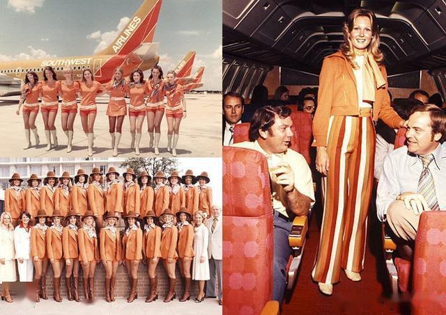 空姐制服出彩 当年美国航空公司生存秘籍 历史上最时尚的空姐制服