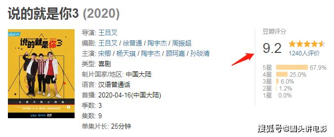 当前热播4部高分电视剧:《猎狐》排在第三,第一豆瓣高达9.2_演技