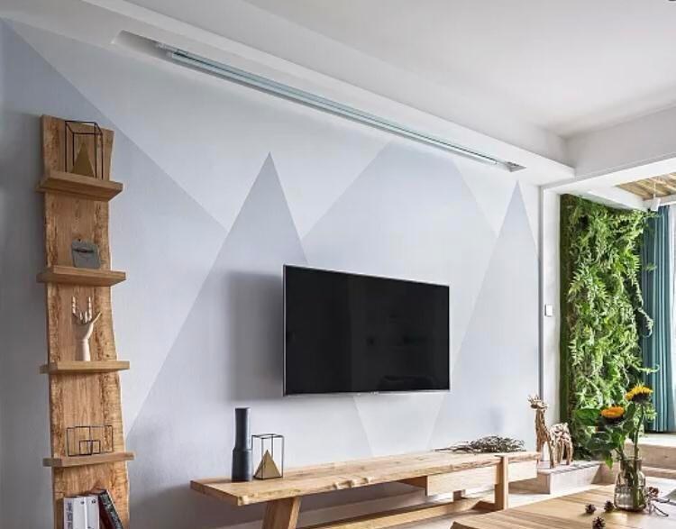 现代简约的背景墙,大理石墙面做嵌入式的电视背景墙,大气.图片