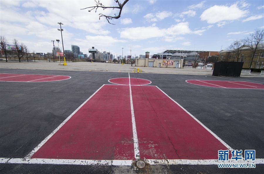 多伦多:无人的篮球场