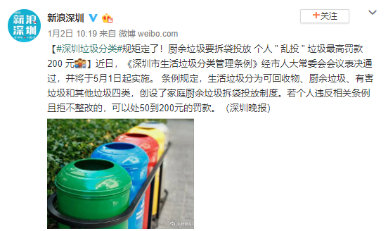 5月起北京深圳南宁开始强制推行垃圾分类!蓝牌垃圾清运车介绍 图片