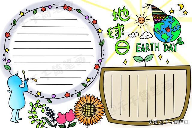 2020年手抄报模板,世界地球日读书日爱国卫生月手抄报