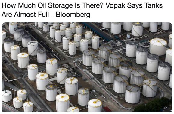 全球原油储存空间将三个月内用尽 你会抄底原油吗?