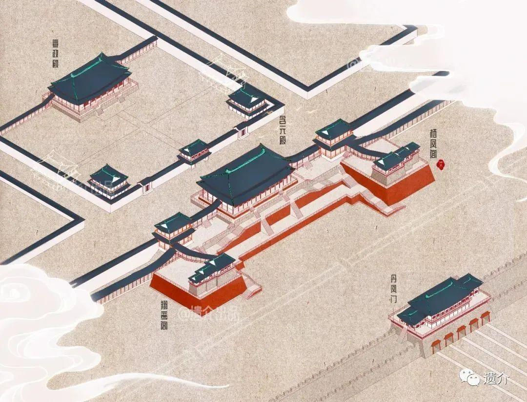 大明宫平面图高清大图