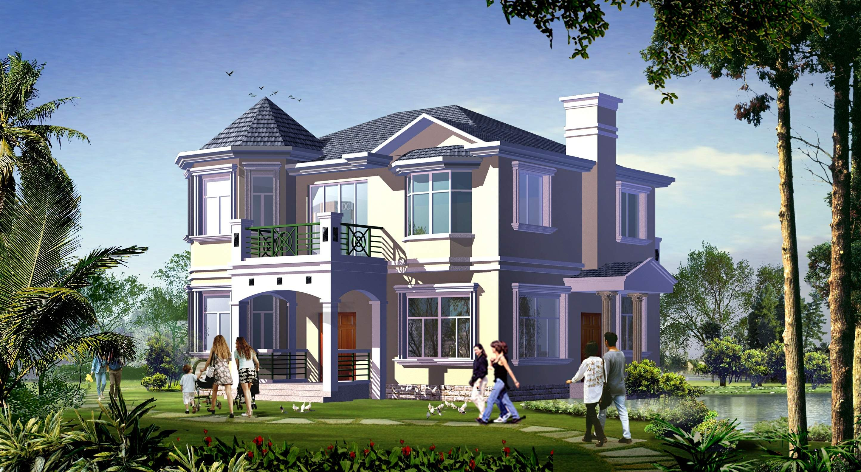 农村二层别墅设计图