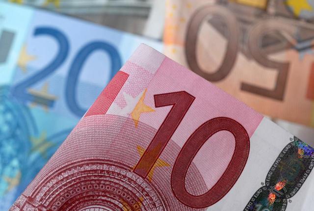2014年4月,欧元纸币