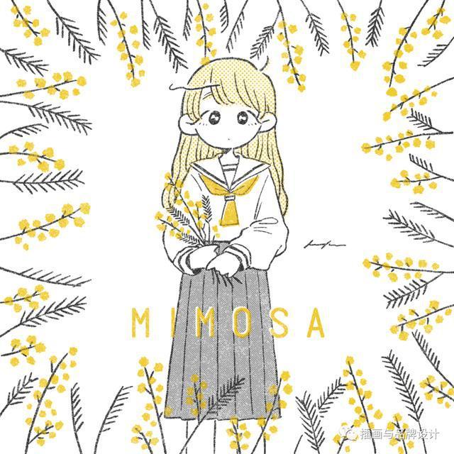 插画丨萌系二次元简笔画美少女,概括充满青春活力的少女日常