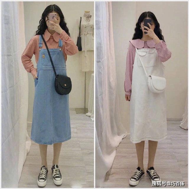 原创清新又少女的气质搭配,适合春季穿着,尽显时尚满分look