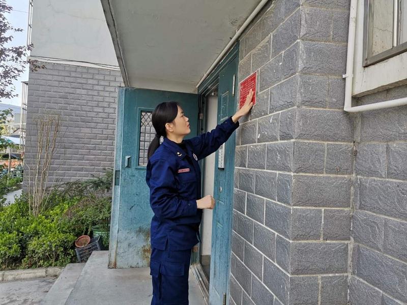 陇南礼县大队3000余块消防安全小常识提示牌落户辖区千家万户