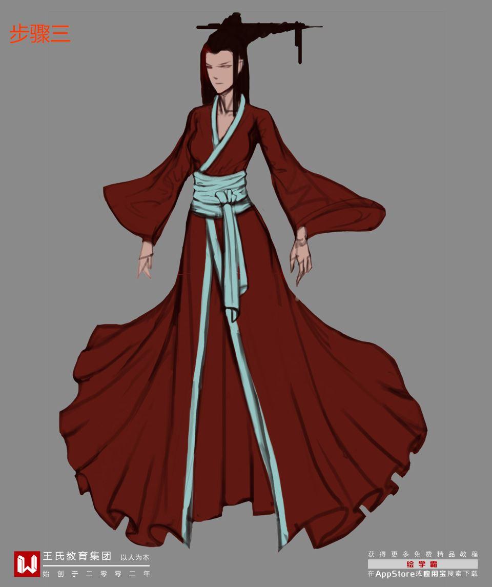 材质系列 古代服饰 教你画 服装 古装 PS板绘