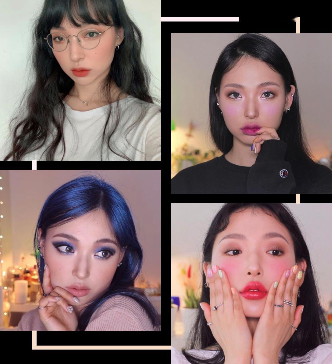 """这个韩国""""换头""""博主,真•亚洲黄皮女孩妆容模板!"""