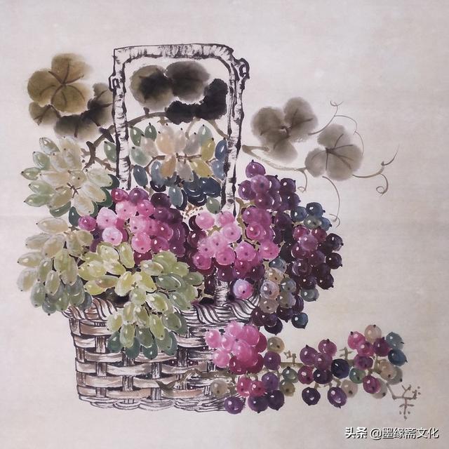 葡萄熟了-朱健国画作品欣赏