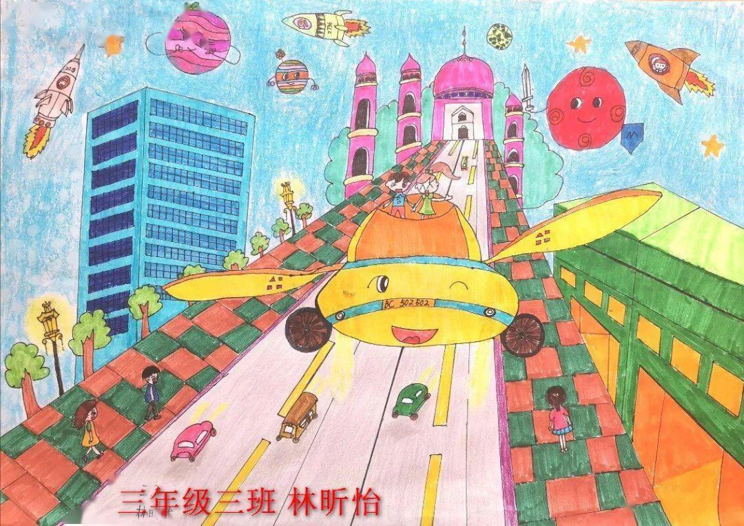 """一组""""聋哑""""孩子们的科学幻想绘画作品,为孩子们点赞!"""