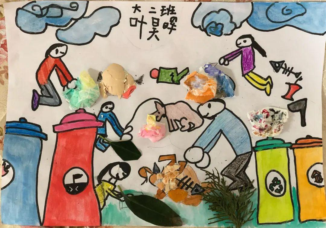 地球日保护地球儿童画作品儿童画_绘画吧-画画