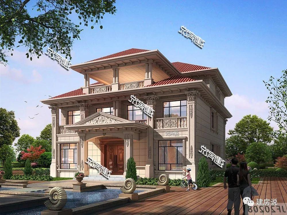 农村建房图纸:这款经典兄弟双拼欧式别墅,布局实用,看