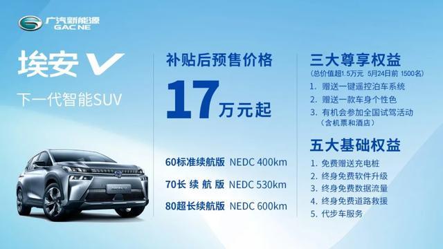 """被广汽新能源定义为""""下一代智能SUV"""",已经预售的埃安V凭什么?"""