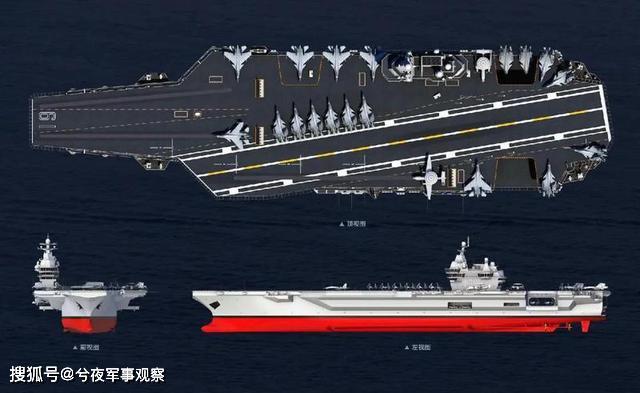 004型航母CG图来了,核动力平直甲板赶超福特级