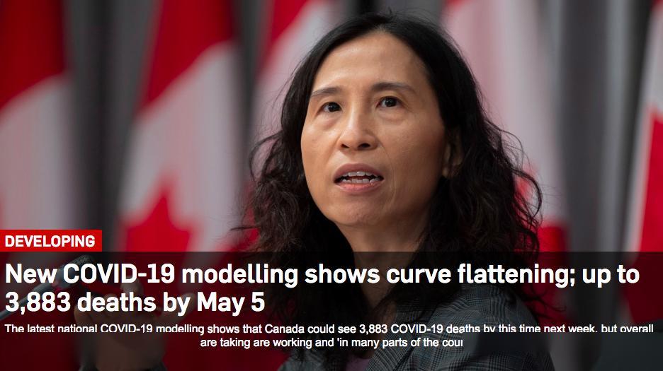 5月初加拿大确诊将达到6万!最新COVID-19模型预测发布