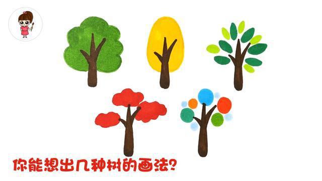 1:首先,画树干   按照下图,先画出五组树干   第112期原创教程:各种树的简笔画法   今天我们学习五种树木的简笔画,希望可以启发大家通过点线面的变化,结合自己的感受和审美,画出更多的富有想象力的、形式新颖的树.