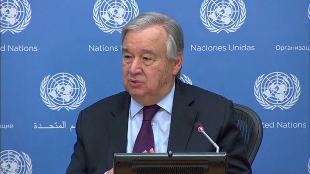 联合国秘书长古特雷斯 疫情下国际社会面临三项关键任务