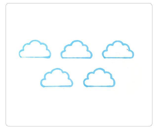 各种天气的云朵简笔画,你喜欢哪种天气呢