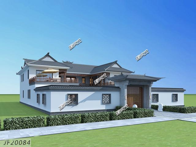 广东湛江村里出了一个牛人,建了栋四合院别墅,隔壁村的都来拍照图片