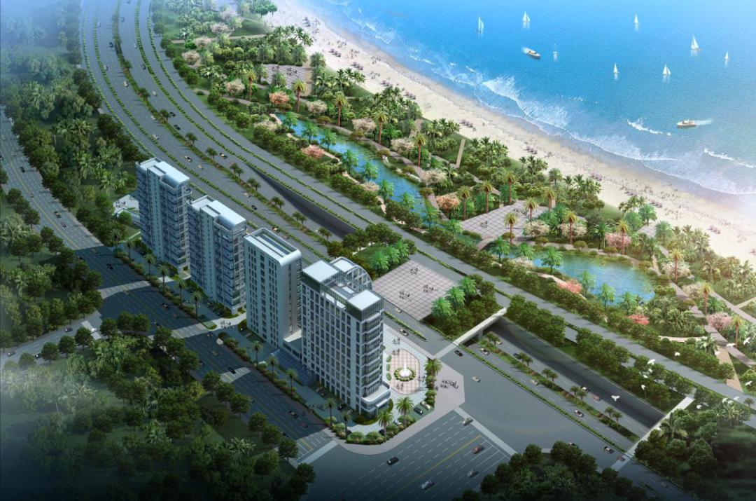 海边住宅总平面图
