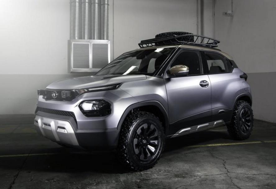 看看印度SUV长啥样:塔塔版的宝骏510,标配俩后视镜,备胎在车顶