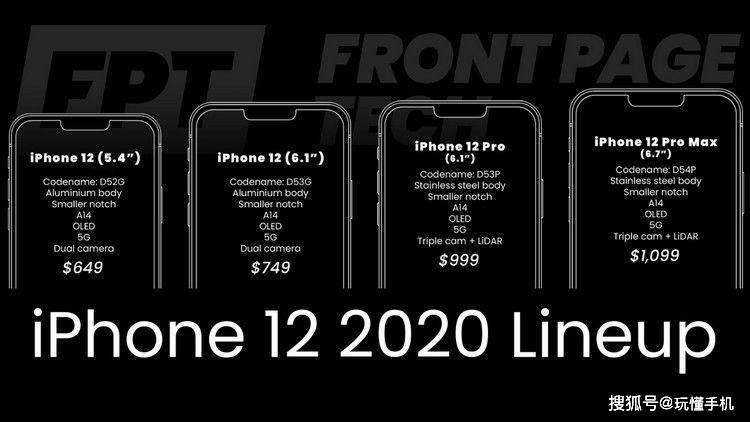 苹果iPhone 12定价曝光:起售价更低是有原因的
