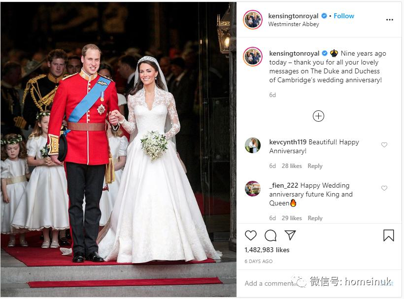 威廉凯特一转眼结婚九年了...各国王室婚纱照大比拼,你最喜欢哪一对?