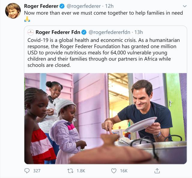 费德勒基金会拨款100万美元 为64000名非洲儿童提供食物