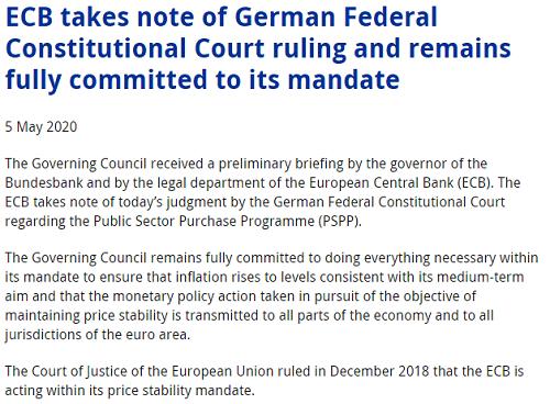"""判决欧央行QE""""部分违宪"""",为什么德国法院谁都能管?"""
