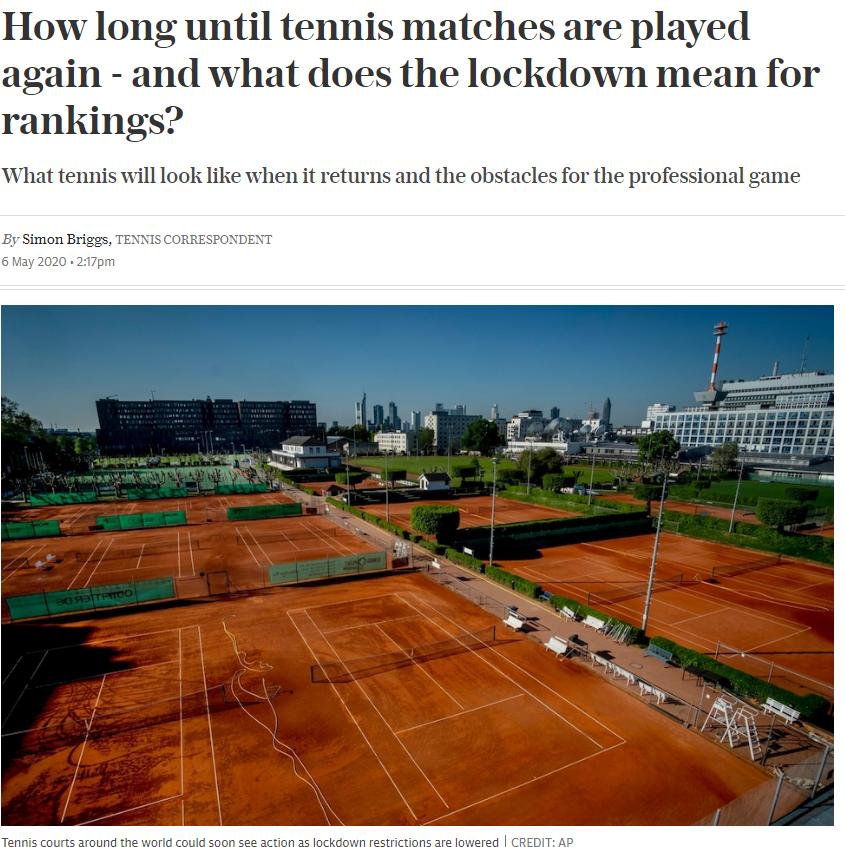 《电讯报》权威解读网球现状 预测巨头收购两大组织