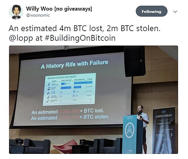 那些丢失的比特币到底去了哪里? 演讲