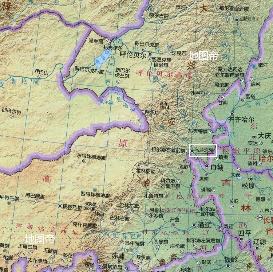 兴安盟科右中旗地图_内蒙古兴安盟有故事,孝庄太后来自科尔沁,乌兰浩特是什么 ...