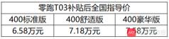 续航400公里,L2辅助驾驶,零跑T03应该是纯电动车的名字吧?