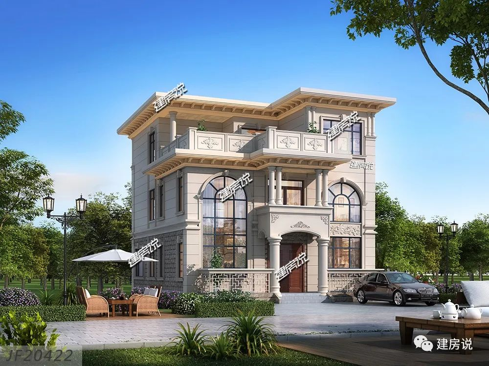湛江市莫总私人定制的欧式别墅,外观经典大气,内部布局实用,农村房子图片