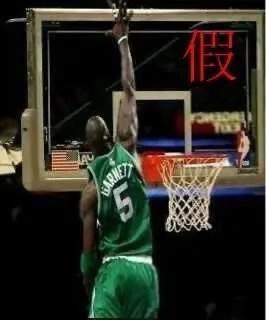 这些NBA假照片骗了你多少年!KG摸篮板上沿,霍华德肌肉溢出屏幕