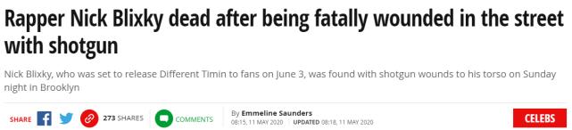 原创 美国说唱歌手被枪击身亡,年仅21岁,目击者称其身中7枪当场死亡
