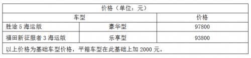 """皮卡行业""""海王""""上市。路虎海事版上市售价9.38万元"""