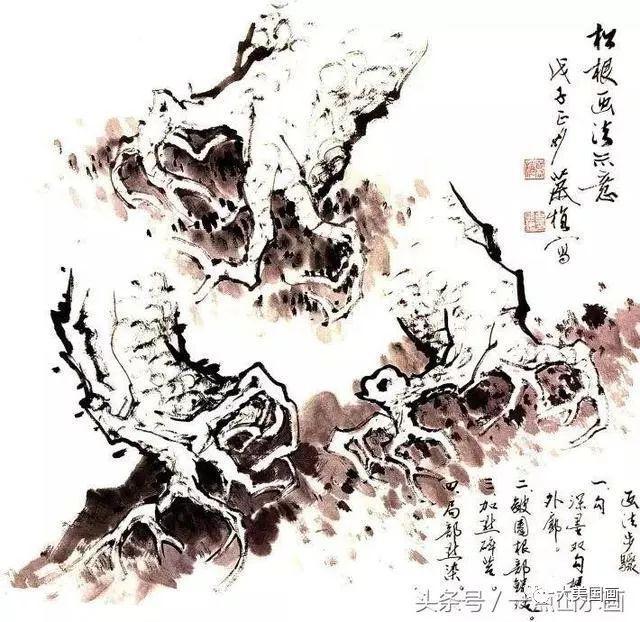图文教程丨松树的写意画法
