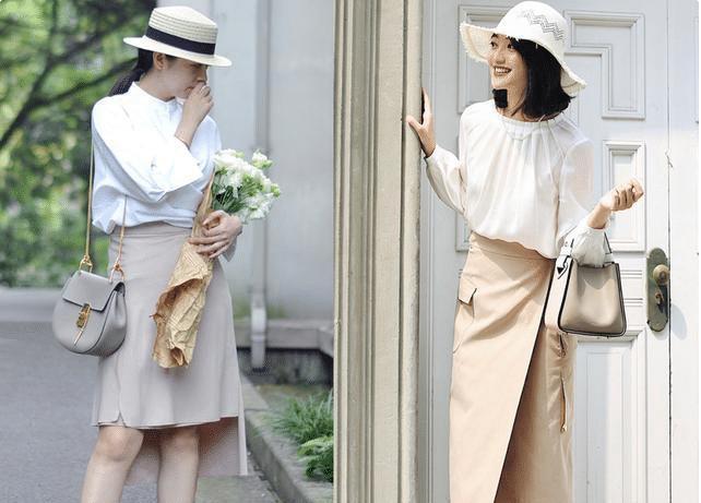 """轻松穿出时尚的""""衬衫+半身裙"""",真的太有气质了,大气舒适有活力"""