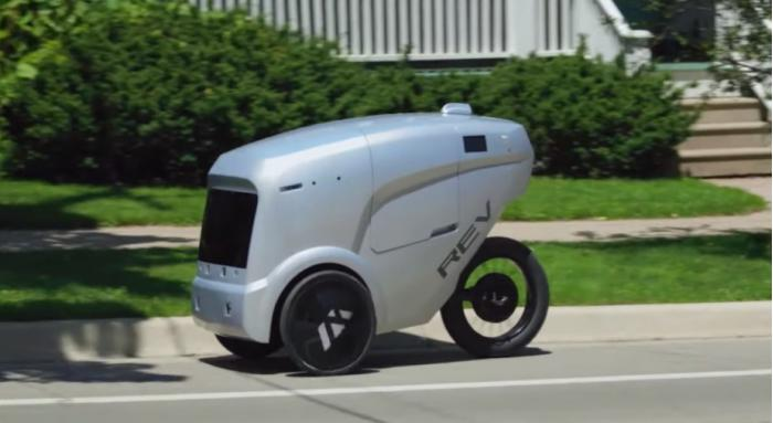 REV-1三轮送餐机器人在密歇根州的使用量约增加4倍