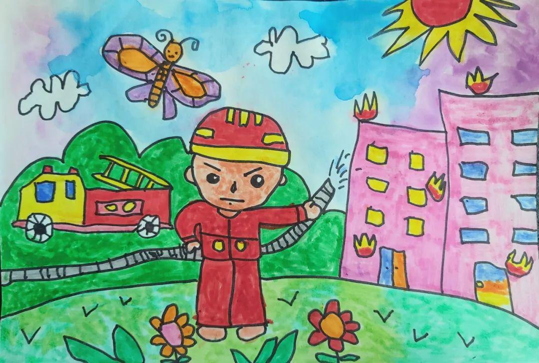 潍坊市举办第五届少年儿童消防绘画作文大赛评选活动