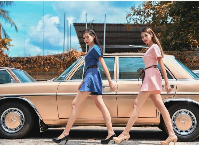 混血姐妹撞脸赫本?不仅霸占马来西亚时尚界,还是行走的穿搭范本